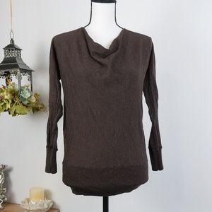 Talbots Sweater Long Sleeve Wool Cowl Neck Sz MP
